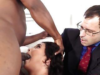 Aaliyah Hadid - Big-boobed Aaliyah Hadid Fucks A Big Black Cock Right In Front Of Her Cheating Hubby - E103