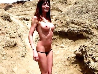 Spanish Cougar Gets Nude At Beach Behind The Sc
