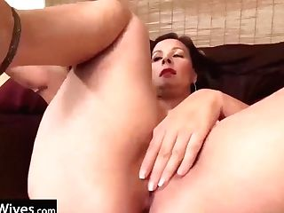 Usawives Classy Matures With Intercourse Playthings Getting Off