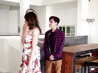 Stepmom And Her Sexy Friend Help Nineteen Yo Dude To Overcome Premature Ejaculation