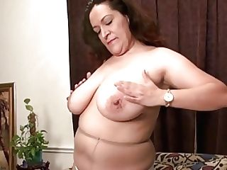 Bbw Mummy Nicolette Parsons Gets Mischievous In Nylon