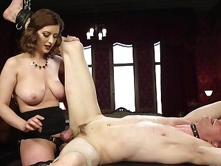 Lovemaking-starved Mistress Cherry Ripped Is Fucking Servant  Stud And Likes Quenning