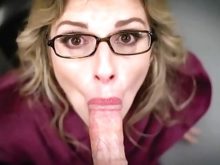 Big Titted, Blonde Mommy Is Anxiously Sucking Dick To Make It Hard Enough For Her Trimmed Cooch
